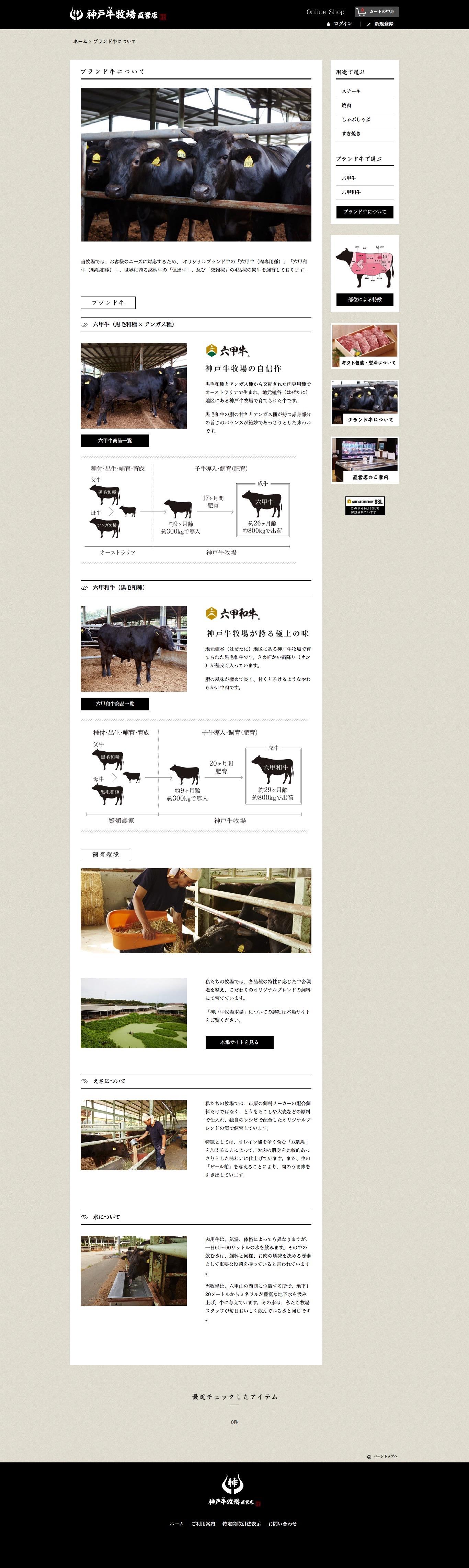 神戸牛牧場 ブランド牛について