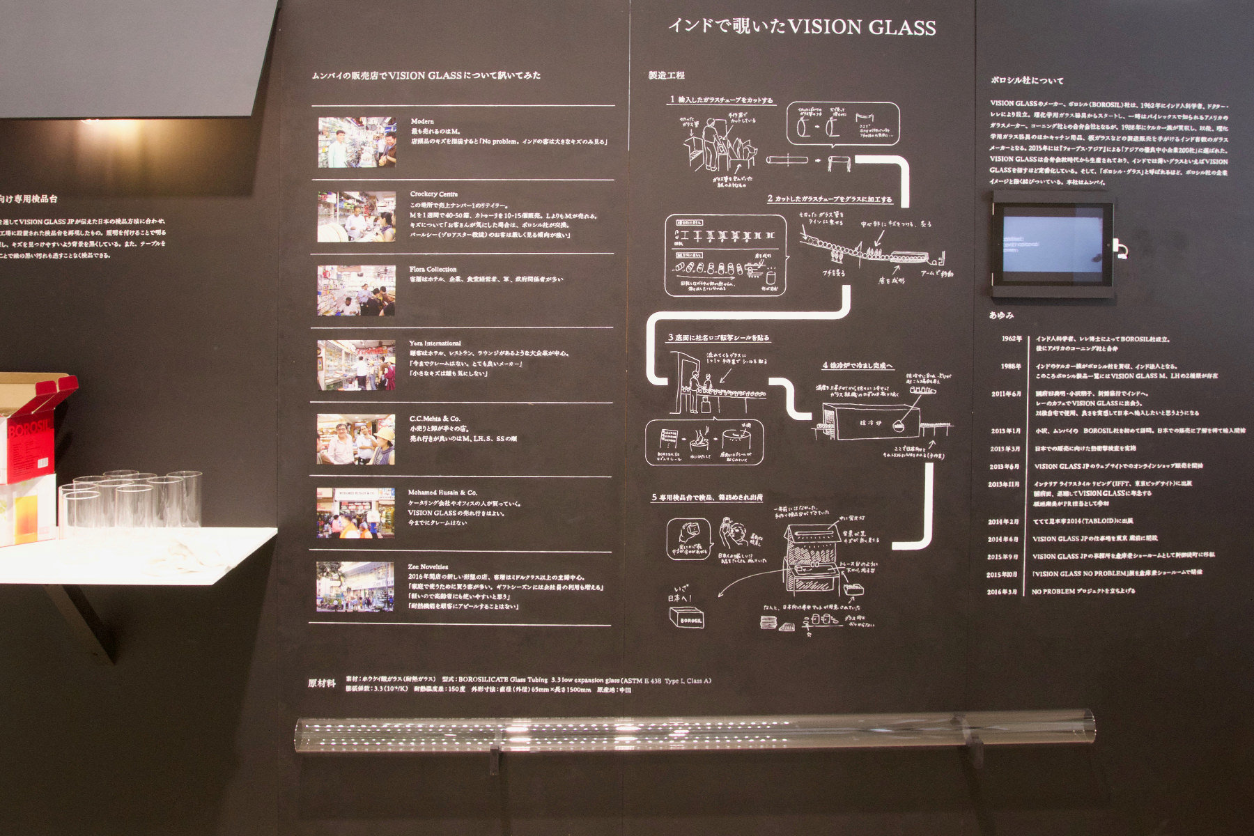 VISION GLASSの品質管理