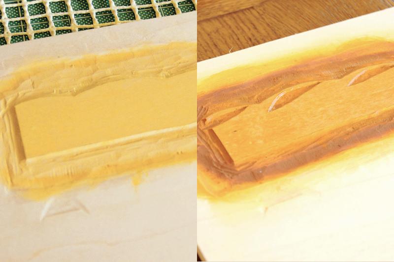 フランスパンの木版