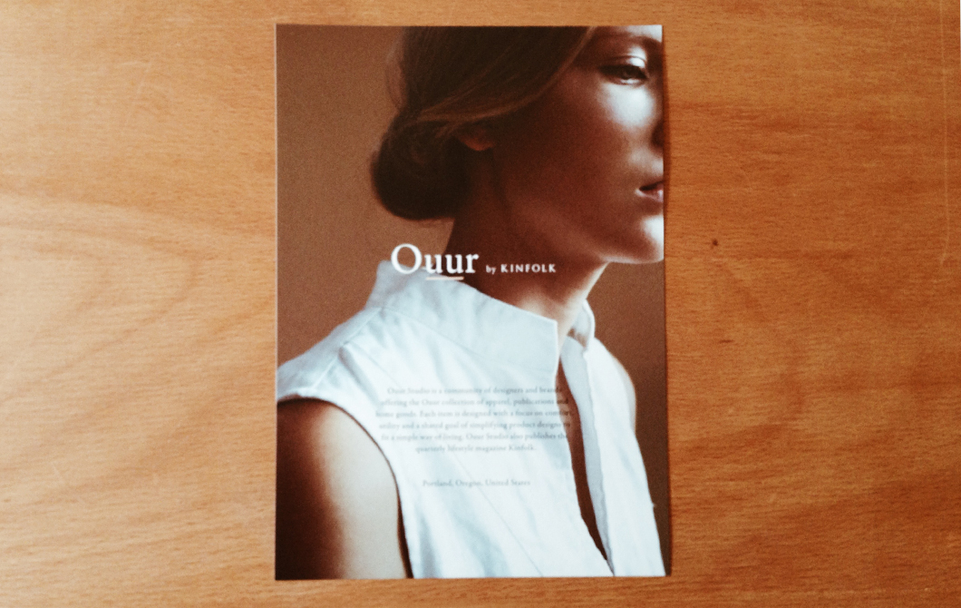 「Ouur by KINFOLK」イメージ